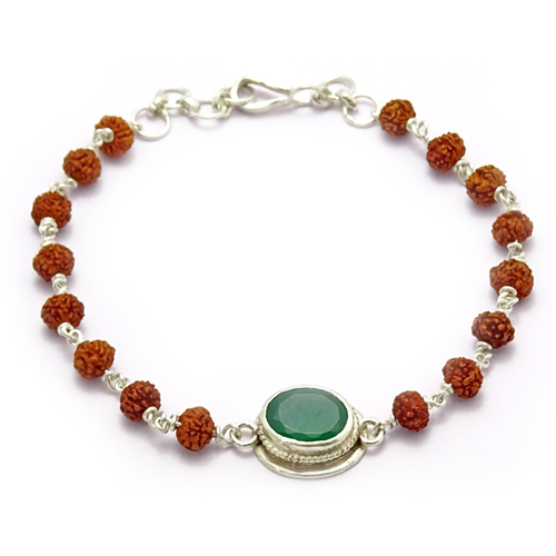 Rudraksha & Gem Bracelet for Virgo