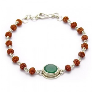 Rudraksha & Gem Bracelet for Gemini