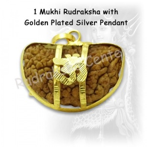 One Mukhi Rudraksha with Golden Om Pendant