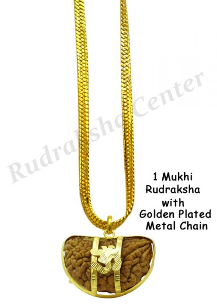 One Mukhi Rudraksha with Golden Chain