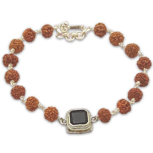 Rudraksha & Gem Bracelet for Rahu