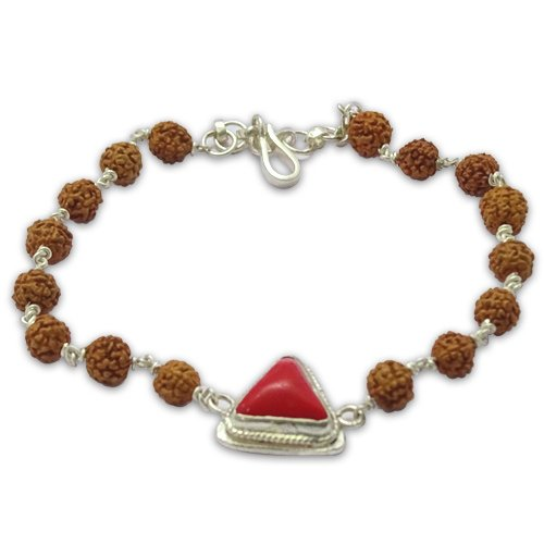 Rudraksha & Gem Bracelet for Aries