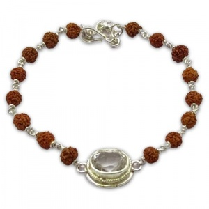 Rudraksha & Gem Bracelet for Libra