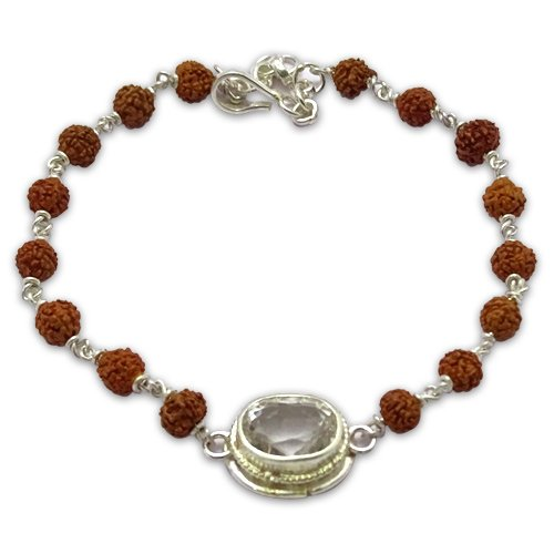 Rudraksha & Gem Bracelet for Taurus