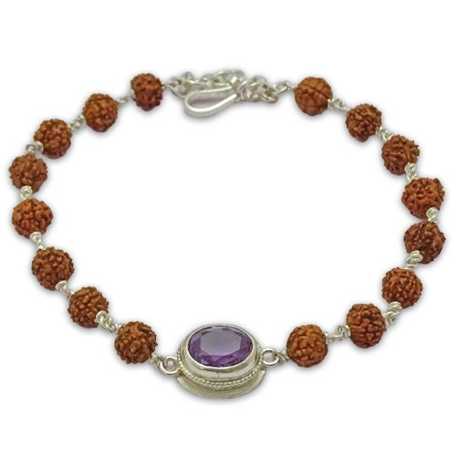 Rudraksha & Gem Bracelet for Aquarius