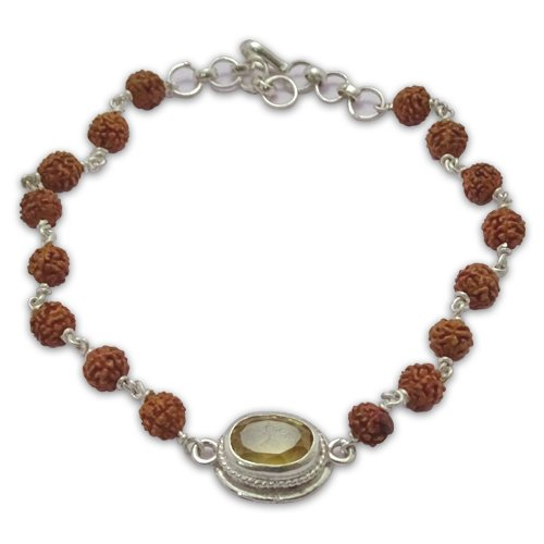 Rudraksha & Gem Bracelet for Pisces