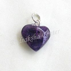 Amethyst Heart Shaped Pendant