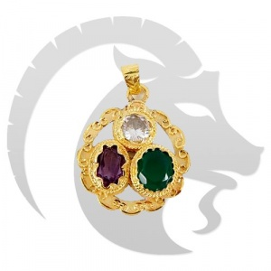 Golden Gems Pendant for Capricorn