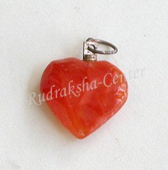 Carnelian Heart Shaped Pendant