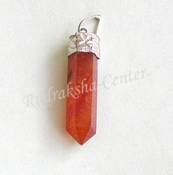 Carnelian Crystal Point Pendant