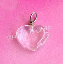 Clear Quartz Heart Shaped Pendant
