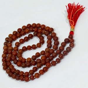 Red Brown Agate Mala