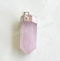 Rose Quartz Crystal Point Pendant