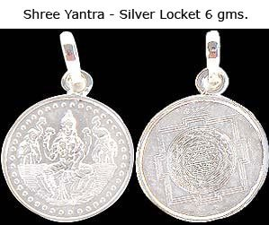 Shree Yantra in 6 gms Silver Locket