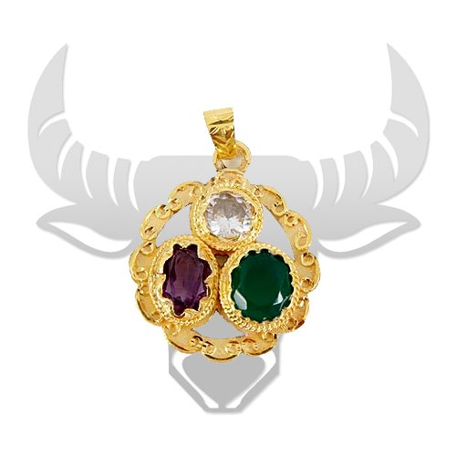 Golden Gems Pendant for Taurus