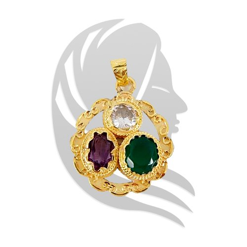 Golden Gems Pendant for Virgo
