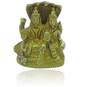 Vishnu Lakshmi Idol with Snake
